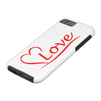 Capa Tough Para iPhone 6 Coração com amor
