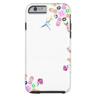 Capa Tough Para iPhone 6 Corrente afortunada floral Assorted balé
