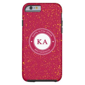 Capa Tough Para iPhone 6 Crachá alfa da ordem   do Kappa