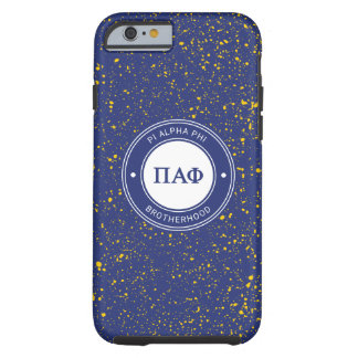 Capa Tough Para iPhone 6 Crachá alfa da phi | do Pi