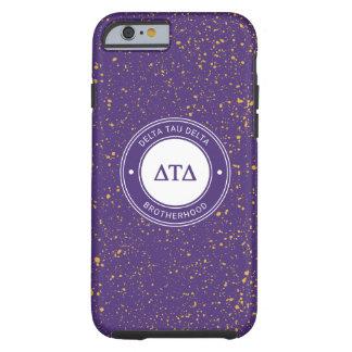 Capa Tough Para iPhone 6 Crachá do delta | da tau do delta