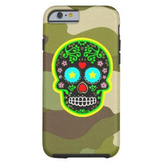 Capa Tough Para iPhone 6 crânio do mexicano da camuflagem do iPhone