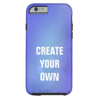 Capa Tough Para iPhone 6 Criar sua própria pintura azul da aguarela