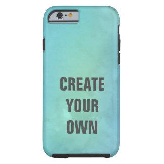 Capa Tough Para iPhone 6 Criar sua própria pintura da aguarela de turquesa