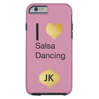 Capa Tough Para iPhone 6 Dança Playfully elegante da salsa do coração de I