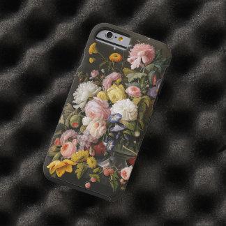 Capa Tough Para iPhone 6 Das flores pintura barroco colorida chique da vida