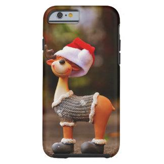 Capa Tough Para iPhone 6 Decorações da rena - rena do Natal