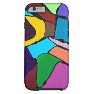 Capa Tough Para iPhone 6 Design colorido abstrato da arte