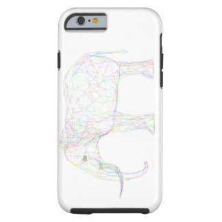 Capa Tough Para iPhone 6 Design colorido do elefante do esboço