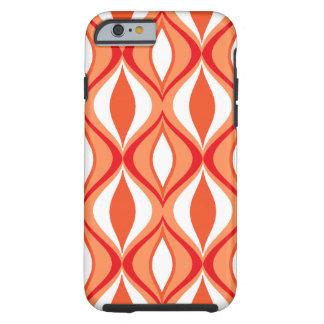 Capa Tough Para iPhone 6 Diamantes, laranja & branco modernos do meio