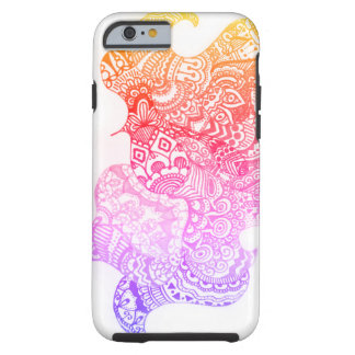 Capa Tough Para iPhone 6 Doodle do Daydream pelo design de Megaflora