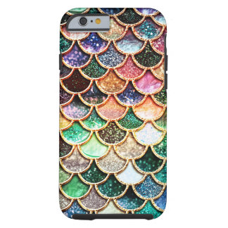 Capa Tough Para iPhone 6 Escalas luxuosas da sereia do brilho -