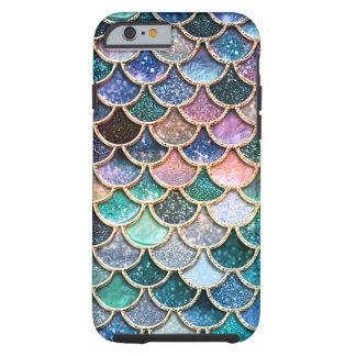 Capa Tough Para iPhone 6 Escalas multicoloridos luxuosas da sereia do
