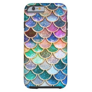 Capa Tough Para iPhone 6 Escalas summerly multicoloridos da sereia do