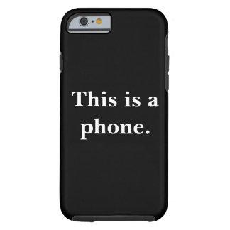 Capa Tough Para iPhone 6 Este é um telefone