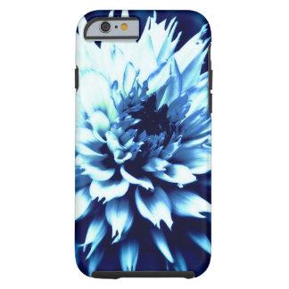 Capa Tough Para iPhone 6 exemplo resistente da dália azul lindo do iPhone