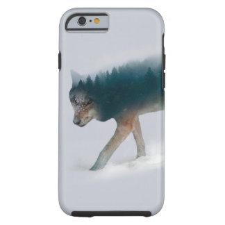 Capa Tough Para iPhone 6 Exposição dobro do lobo - floresta do lobo - lobo