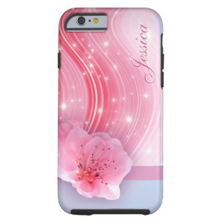 Capa Tough Para iPhone 6 Flor cor-de-rosa do primavera