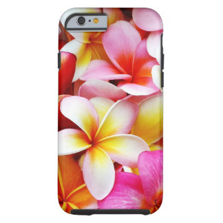 Capa Tough Para iPhone 6 Flor de Havaí do Frangipani do Plumeria