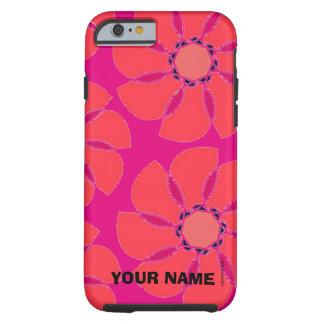 Capa Tough Para iPhone 6 Flores estilizados