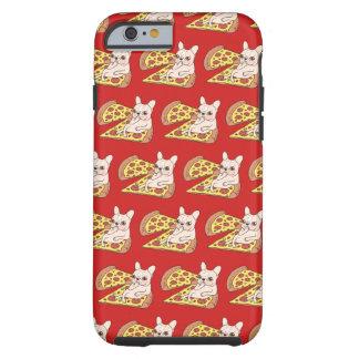 Capa Tough Para iPhone 6 Frenchie de creme convida-o a seu partido da pizza