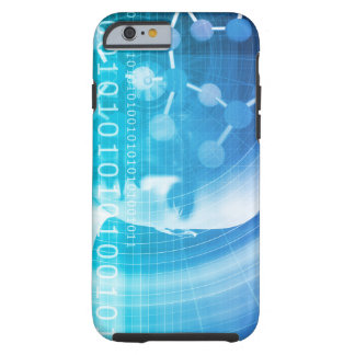 Capa Tough Para iPhone 6 Fundo da molécula como um conceito do abstrato da