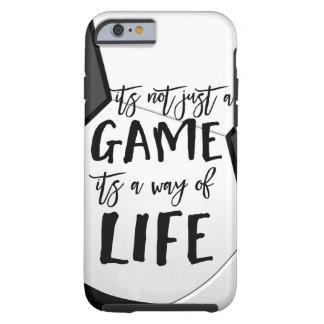 Capa Tough Para iPhone 6 Futebol seu não apenas um seguro desportivo das