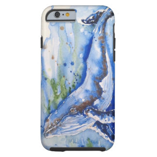 Capa Tough Para iPhone 6 Fuzileiro naval da baleia de Humpback do oceano da