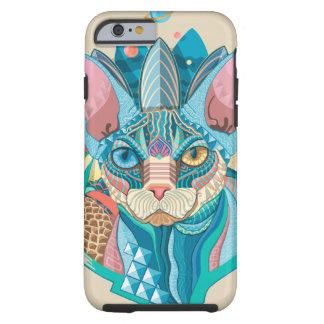 Capa Tough Para iPhone 6 Gato cósmico de Sphynx