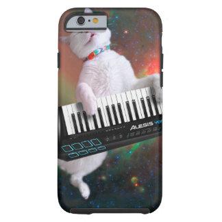 Capa Tough Para iPhone 6 Gato do teclado - gato do espaço - gatos