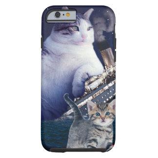 Capa Tough Para iPhone 6 - Gato gordo - gatos engraçados titânicos - gato