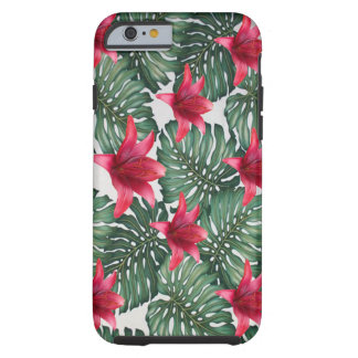 Capa Tough Para iPhone 6 Hawaiian tropical adorável Hibiskus da palma