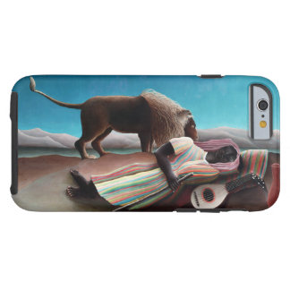 Capa Tough Para iPhone 6 Henri Rousseau o vintage aciganado do sono