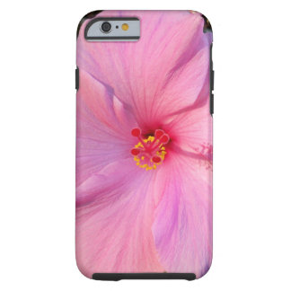 Capa Tough Para iPhone 6 Hibiscus cor-de-rosa