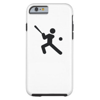 Capa Tough Para iPhone 6 Ícone legal do esporte do BASEBOL |