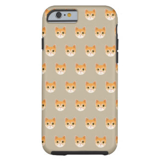 Capa Tough Para iPhone 6 Ilustração bonito do gato de gato malhado
