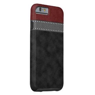 Capa Tough Para iPhone 6 Impressão costurado da correia da camurça couro