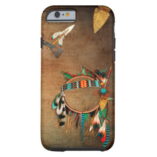Capa Tough Para iPhone 6 Indiano da seta do nativo americano