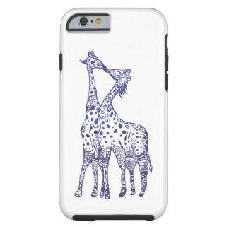 Capa Tough Para iPhone 6 iPhone 6/6s, casal resistente dos girafas