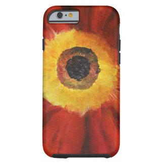 Capa Tough Para iPhone 6 iPhone 6/6s da arte da flor, resistente