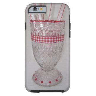 Capa Tough Para iPhone 6 iPhone do suporte de vidro da palha/caixa