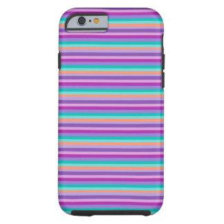 Capa Tough Para iPhone 6 iPhone vívido 6/6s, listras roxas resistentes