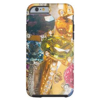 Capa Tough Para iPhone 6 Jewels a água-marinha da ametista do ouro da