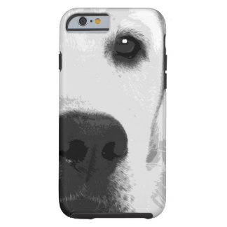 Capa Tough Para iPhone 6 Labrador retriever preto e branco