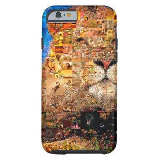 Capa Tough Para iPhone 6 leão - colagem do leão - mosaico do leão - leão