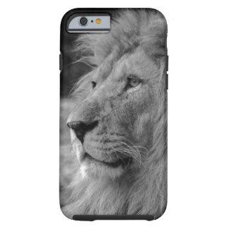 Capa Tough Para iPhone 6 Leão preto & branco - animal selvagem