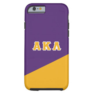 Capa Tough Para iPhone 6 Letras alfa do grego do Lambda | do Kappa