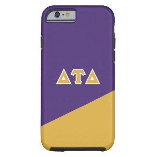 Capa Tough Para iPhone 6 Letras do grego do delta | da tau do delta