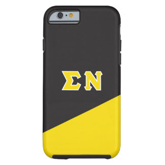 Capa Tough Para iPhone 6 Letras do grego do NU | do Sigma