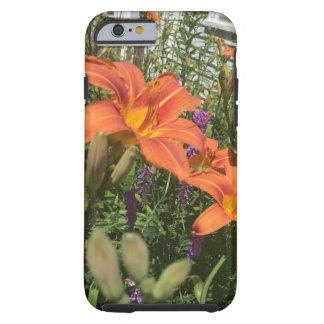 Capa Tough Para iPhone 6 Lírios de dia alaranjados na fazenda - fazendas do